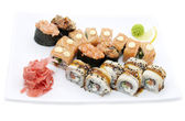Sushi with vegetables — Stock Photo