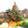 Rabbit meat and potatoes - Stockfoto