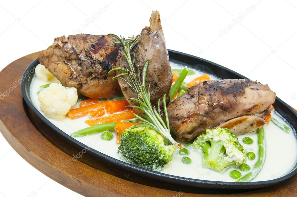 Cooked rabbit