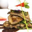 Roast goose liver - Photo