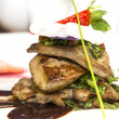 Stock Photo: Roast goose liver