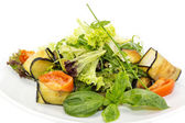 Salad with cheese and vegetables — Stock Photo