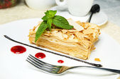Napoleon cake — Stock Photo