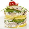 Stock Photo: Herring salad with avocado sauce
