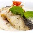 Roasted fillet of grilled fish - Stock Photo