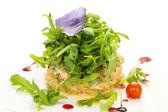 Salad with shrimp and arugul — Stock Photo