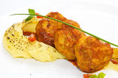 Fresh cutlet with tomato — Stock Photo