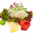 Japanese cuisine sashimi — Stock Photo