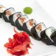 Japanese rolls with fish and vegetables — Foto de stock #23863507