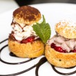 Profiteroles — Stockfoto
