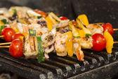 烤串的海鲜 — 图库照片