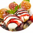Balls of ice cream with fruit — Stock Photo #24050977