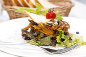 Salad with meat and vegetables — Stock Photo