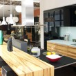 Nice interior with furniture and kitchen appliances — ストック写真