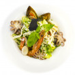 Stock Photo: Salad with vegetables and seafood on table in restaurant