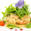 Salad with shrimp and arugul — Stock Photo