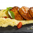 Cutlets with mashed potatoes — Stock Photo