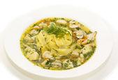 Soup of vegetables and mushrooms — ストック写真