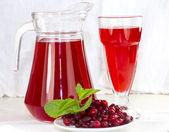 Pot de verre de berry — Photo