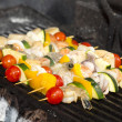 Stock Photo: Skewers of seafood