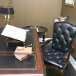 Office with a comfortable chair and table made of wood — Foto de Stock