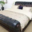 Bedroom with leather bed — Foto de Stock