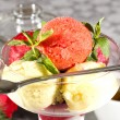 Fruit sorbet — Stock Photo