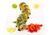 Plate of Japanese sushi — Stock Photo