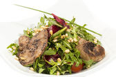 Duck with arugula — Stock Photo
