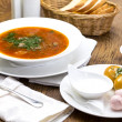 Russian borscht — Stock Photo