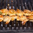 Royal shrimps roasted on the grill — Stock Photo