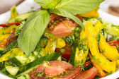 Vegetable salad on a table in a restaurant — Stock Photo