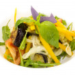 Vegetable salad on a plate in a restaurant — Stock Photo