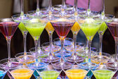 Glasses with cocktails — Stock Photo