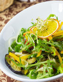 Vegetable salad on a plate in a restaurant — Foto de Stock