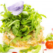 Salad with shrimp and arugula — Stock Photo