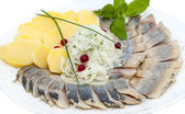 Herring plate — Stock Photo