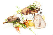 Roasted rabbit meat — Stock Photo