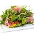 Salad of arugula figs and cheese — Stock Photo #31899975