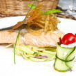 Baked salmon fillet with vegetables  — Stock Photo