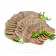 A dish of beef tongue — Stock Photo