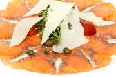 Plastry łososia z ziołami i serem — Zdjęcie stockowe