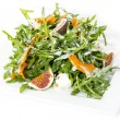 Salad of arugula figs and cheese — Stock Photo #33485327