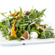 Salad of arugula figs and cheese — Stock Photo #33485345