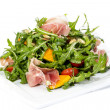 Salad of arugula figs and cheese — Stock Photo #33485355