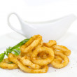 Fried calamari rings — Stock Photo #33965833
