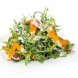 Salad of arugula figs and cheese — Stock Photo #34709437