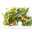 Salad of arugula figs and cheese — Stock Photo #34709439