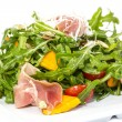 Salad of arugula figs and cheese — Stock Photo #34709441
