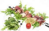 肉と野菜の巻き — ストック写真
